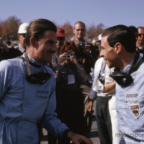 Graham Hill et Jim Clark à Watkins Glen  1966  © Manfred Gygli