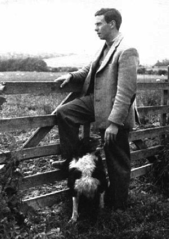 Jim Gentleman farmer et son chien de berger
